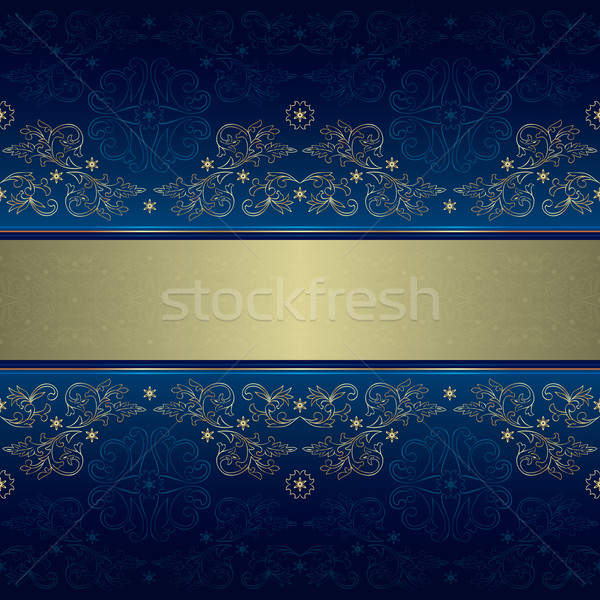 Plantilla floral azul vector Foto stock © Ray_of_Light