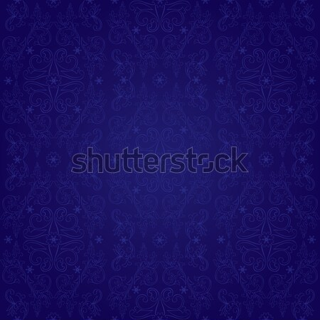 Vintage floral seamless pattern on violet Stock photo © Ray_of_Light