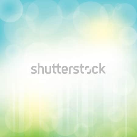 Absztrakt vektor zöld kék bokeh nap Stock fotó © Ray_of_Light