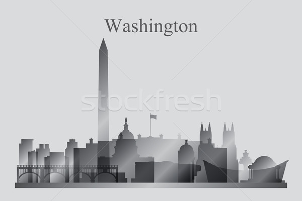 Washington siluet Bina ufuk çizgisi mimari Stok fotoğraf © Ray_of_Light