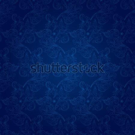 Klasszikus virágmintás végtelen minta vektor virág absztrakt Stock fotó © Ray_of_Light