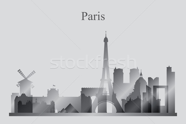 Paris silhouette bâtiment Skyline architecture Photo stock © Ray_of_Light