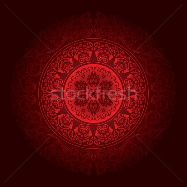 красный Vintage цветочный цветок аннотация природы Сток-фото © Ray_of_Light