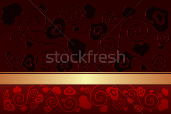 Saint valentin coeurs amour design signe or Photo stock © Ray_of_Light