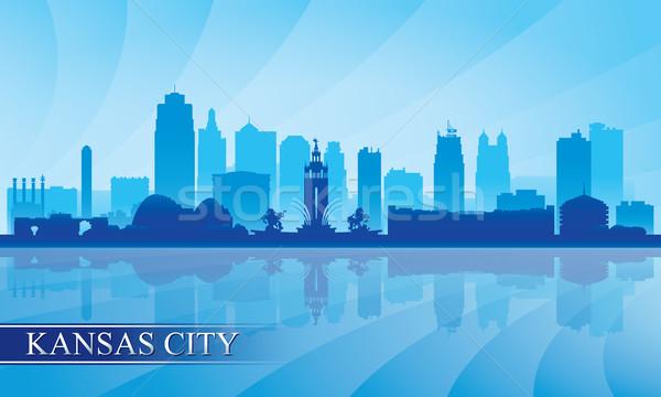 Kansas City skyline silhouette background Stock photo © Ray_of_Light