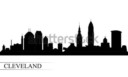 Városkép sziluett utazás sziluett építészet panoráma Stock fotó © Ray_of_Light
