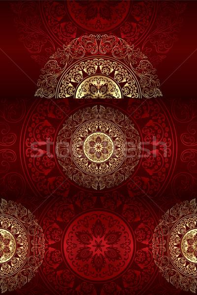 セット ヴィンテージ フローラル 背景 花 抽象的な ストックフォト © Ray_of_Light