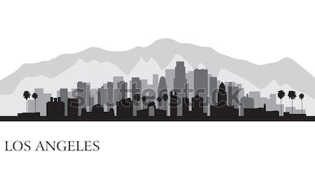 Los Angeles szczegółowy sylwetka niebo miasta Zdjęcia stock © Ray_of_Light