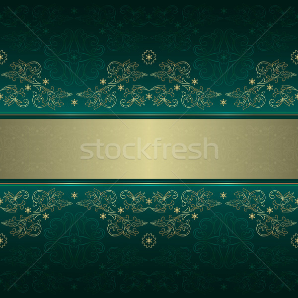 Green gold floral vintage seamless pattern  Stock photo © Ray_of_Light