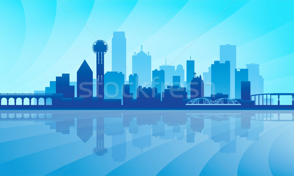 Dallas silhouet gebouw zonsopgang skyline Stockfoto © Ray_of_Light