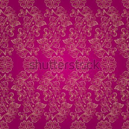 Virágmintás klasszikus végtelen minta rózsaszín virág absztrakt Stock fotó © Ray_of_Light
