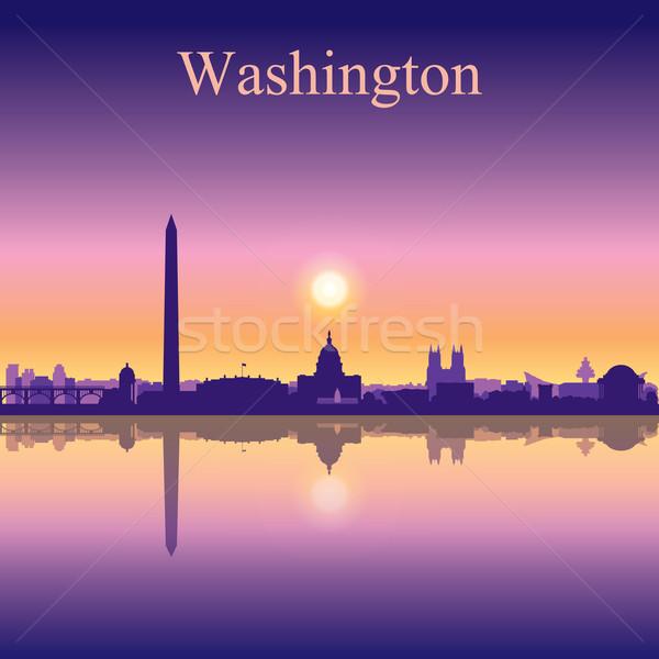 Washington city skyline silhouette background Stock photo © Ray_of_Light