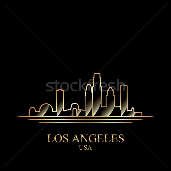 Or silhouette Los Angeles noir Skyline architecture Photo stock © Ray_of_Light