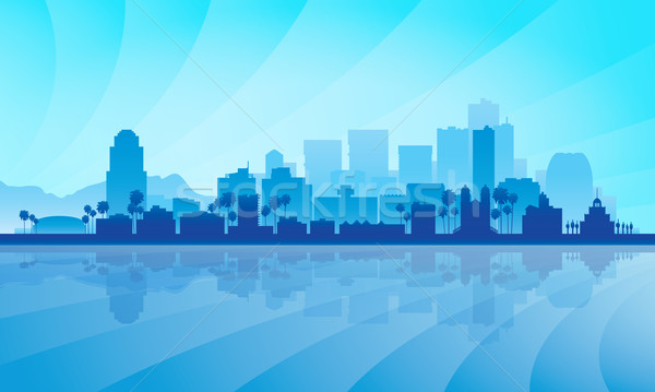 Phoenix city skyline silhouette background Stock photo © Ray_of_Light
