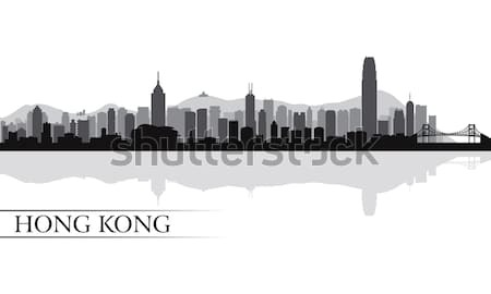 Stock photo: Chicago city skyline silhouette background