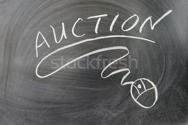Auction word Stock photo © raywoo