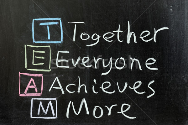 TEAM: Together, Everyone, Achieves, More Stock photo © raywoo