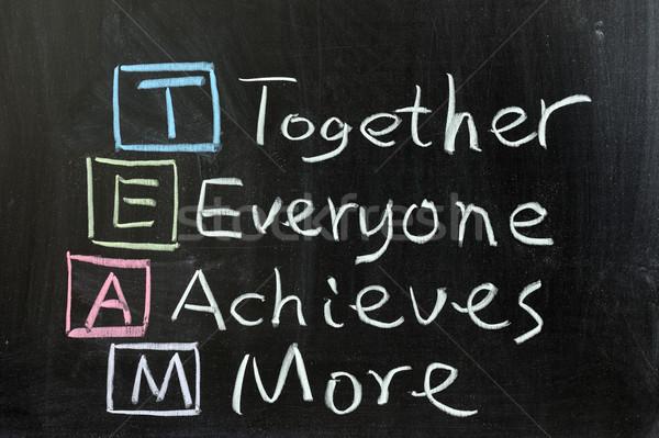 Team samen iedereen meer krijttekening business Stockfoto © raywoo