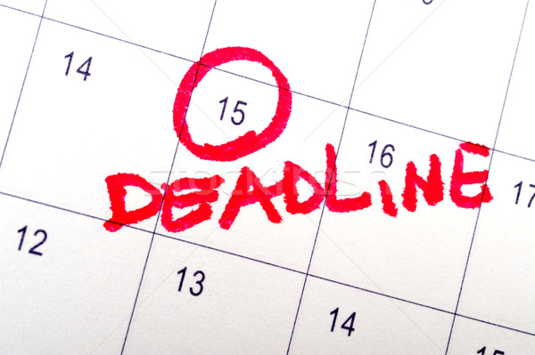 Prazo de entrega palavra escrito calendário planejamento data Foto stock © raywoo