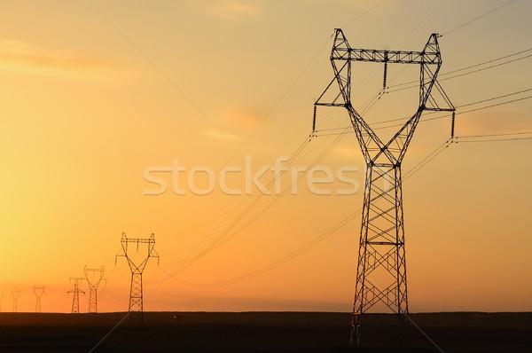 Pol Sonnenuntergang Wüste Natur Bereich Industrie Stock foto © raywoo