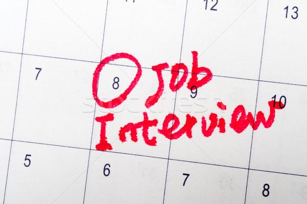 Job interview Stock photo © raywoo