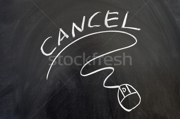 Cancel word and mouse sign Stock photo © raywoo