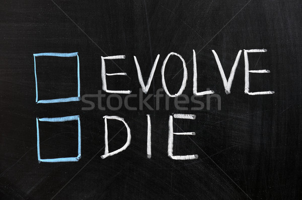 Evolve or die Stock photo © raywoo