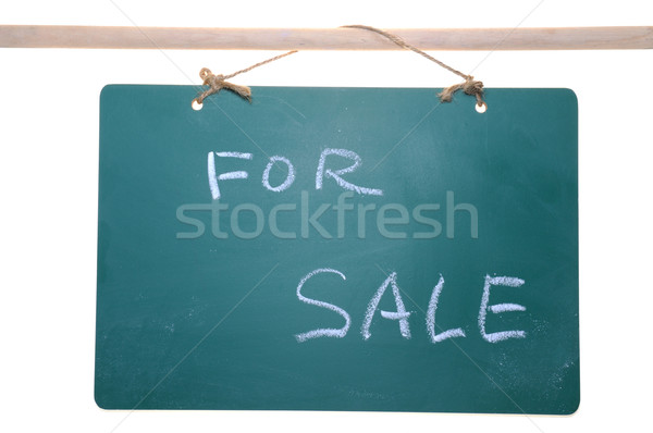 For sale sign on chalkboard Stock photo © raywoo