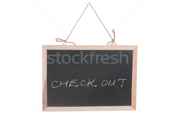 Check out words Stock photo © raywoo