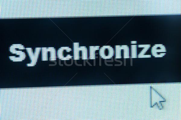 Synchronize word and cursor Stock photo © raywoo