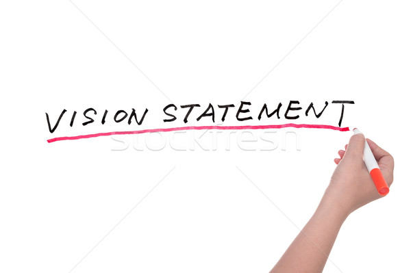 Vision statement words Stock photo © raywoo