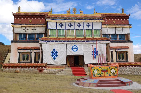Tibetan Buddhist temple Stock photo © raywoo