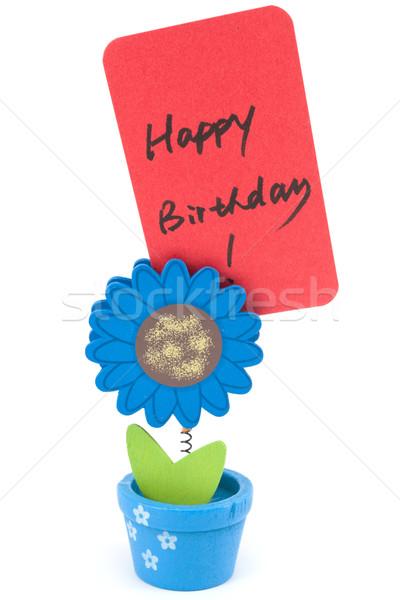 Happy birthday words Stock photo © raywoo