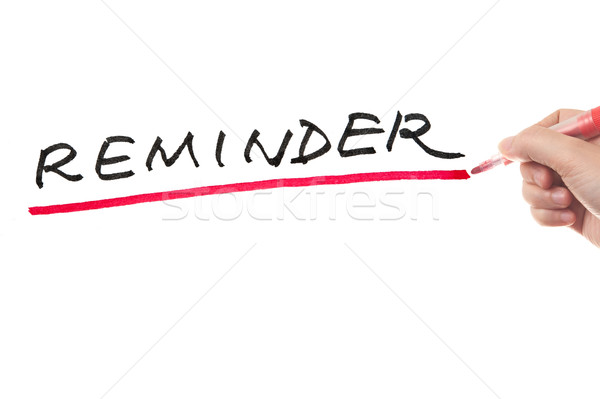 Reminder Stock photo © raywoo