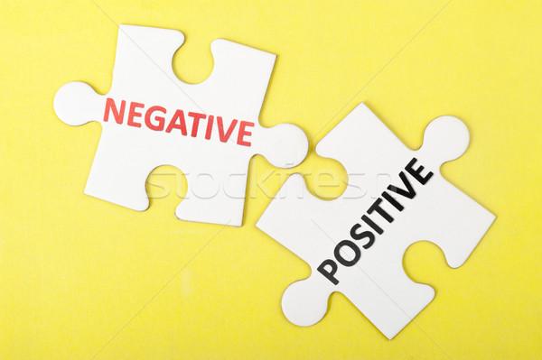 Negative versus positive Stock photo © raywoo