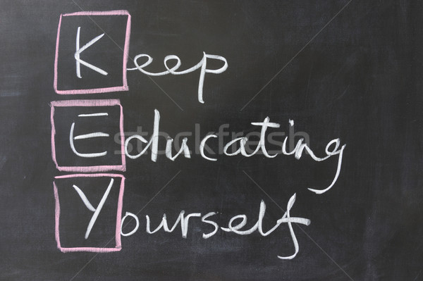 Keep educating yourself Stock photo © raywoo