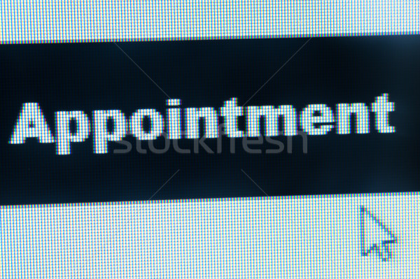 Nombramiento palabra cursor signo web Foto stock © raywoo