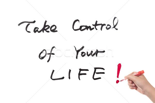 制御 生活 単語 書かれた ホワイトボード ストックフォト © raywoo