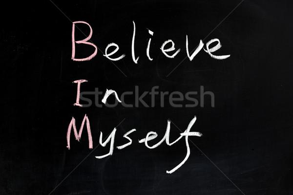 Believe in myself Stock photo © raywoo