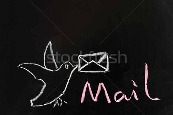 E-mail serviço negócio assinar rede Foto stock © raywoo