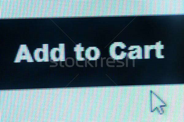 Stock photo: Add to cart words