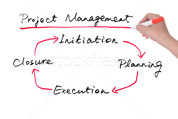 Project management Stock photo © raywoo