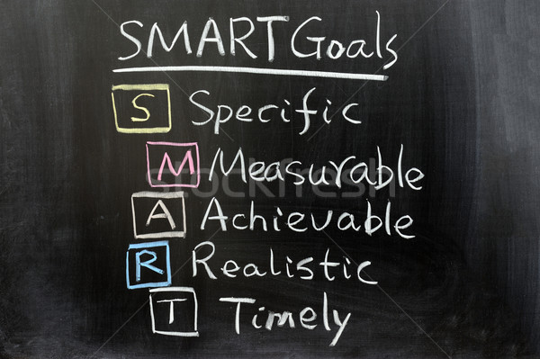 SMART Goals Stock photo © raywoo