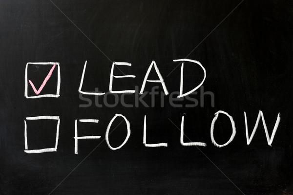 Lead or follow Stock photo © raywoo