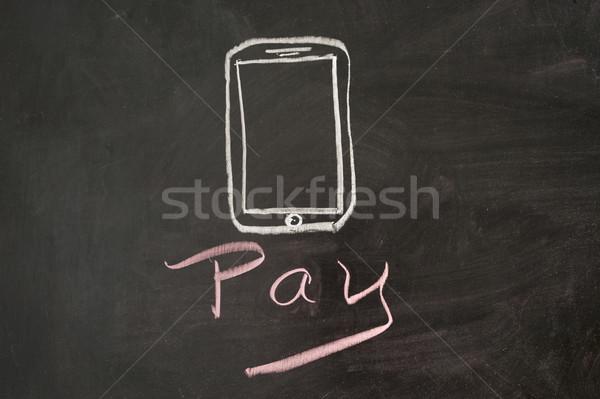 Móvel lousa negócio dinheiro Foto stock © raywoo