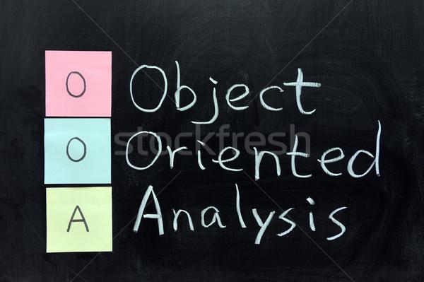 オブジェクト 分析 チョーク 書く 手紙 黒板 ストックフォト © raywoo