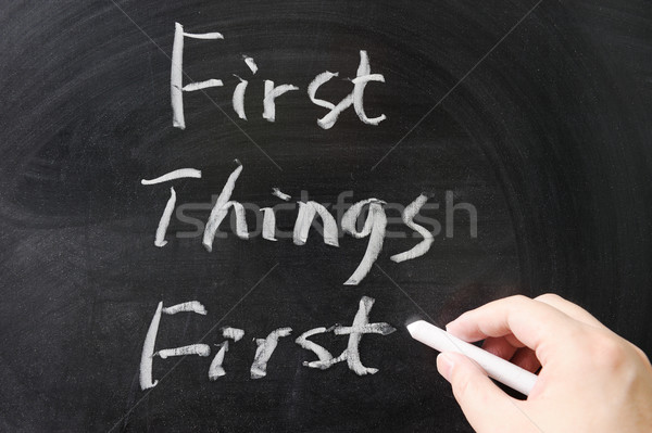 Stock photo: First things first