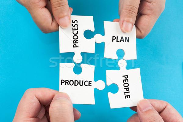 Photo stock: Processus · plan · personnes · produire · mots · groupe