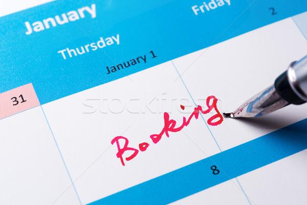 Booking reminder Stock photo © raywoo
