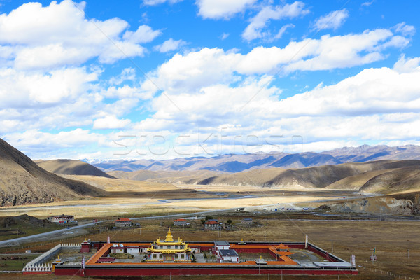 Landscape of western sichuan plateau Stock photo © raywoo